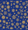 christmas icons snow seamless pattern happy vector image vector image