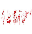 collection various blood or paint vector image vector image