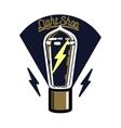 Color vintage lighting shop emblem vector image vector image