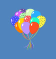 colorful balloons on blue vector image