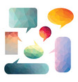 colorful speech cloud isolated elements vector image