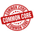 common core red grunge stamp vector image vector image