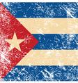 Cuba retro flag vector image vector image