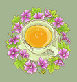 cup of malva tea vector image vector image