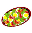 delicious salad vector image