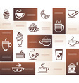 design elements with coffee cups vector image
