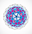 dimensional wireframe low poly object purple vector image vector image