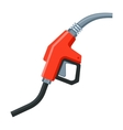 Gas Station Gun Icon Flat Style vector image
