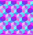 geometric colorful cube background vector image vector image