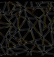 gold color triangle pattern with grunge effect vector image vector image