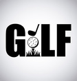 golf sport design vector image