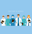 group doctors and nurses wearing uniform vector image vector image