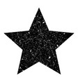 grunge is a black big star vector image