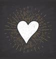 Heart symbol hand drawn sketch doodle vintage