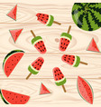 homemade popsicles with berries vector image vector image