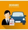 human insurance design vector image