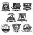 hunting club safari hunt open season icons vector image vector image