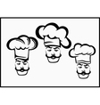 icons chefs and hubcaps vector image vector image