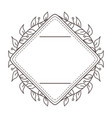 isolated frame and decoration design vector image vector image