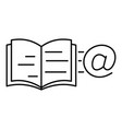 mail book icon outline style vector image vector image