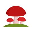 mushroom icon vector image vector image