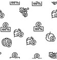 organic eco foods seamless pattern vector image vector image