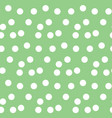 pastel green background scattered dots polka vector image vector image