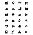 Real Estate Solid Icons 4 vector image vector image