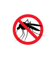 repellent mosquito stop sign icon malaria pest vector image