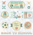 Retro Style Back to School Labels vector image vector image