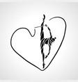 rhythmic gymnastics with ribbon abstract vector image vector image