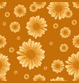 seamless chamomile pattern with orange flowers vector image vector image