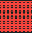 seamless pattern background with skulls grunge vector image