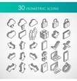 set of 30 isometric icons vector image