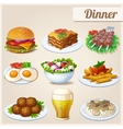 Set of food icons Dinner vector image vector image