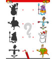shadow game with fantasy characters vector image vector image