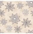snowflake christmas seamless pattern vector image vector image