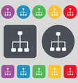 social network icon sign A set of 12 colored vector image vector image