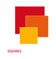 Squares colored vector image vector image