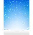 Star night and snow fall bakcground vector image vector image