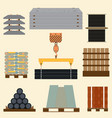 storage of construction material vector image vector image