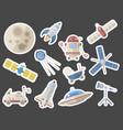 stylish space ship constellation astrology radar vector image vector image