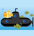 submarine of the black colour vector image vector image