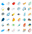 time icons set isometric style vector image vector image