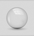 translucent sphere with shadow on transparent vector image vector image