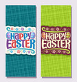 vertical banners for easter holiday vector image