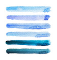 Watercolor stripes vector image vector image