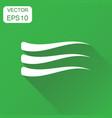 wave decoration icon business concept wave vector image