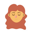 woman head with closed eyes and hairstyle vector image vector image