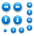 directional buttons blue vector image